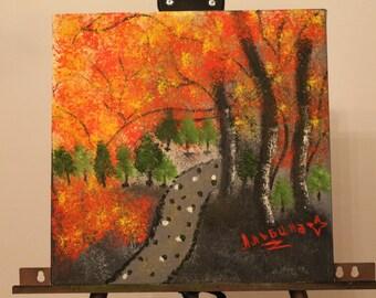 """12x12"""" - Hand Painted, ORIGINAL, OIL LANDSCAPE"""