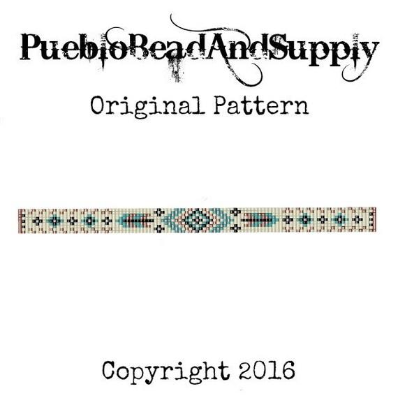 Prairie plumas semilla grano telar brazalete pulsera patrón | Etsy