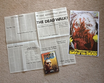 DEAL Of The DEAD Includes Day Of The Dead Newspaper, DVD, and Limited Edition Print George Romero Tom Savini Dawn Of The Dead