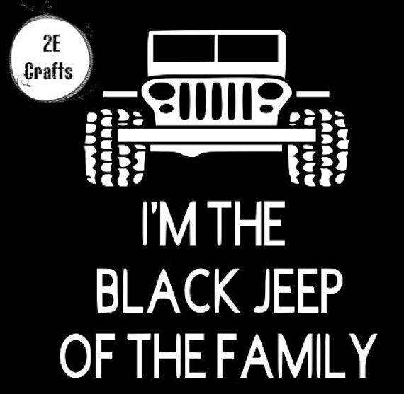 Black Jeep Of The Family Etsy