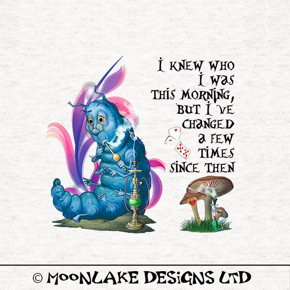 Alice In Wonderland Caterpillar Fabric Craft Panels in 100/% Cotton or Polyester