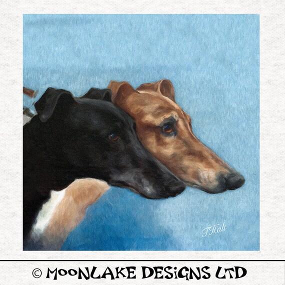 Greyhound Dog Walking Printed Fabric Panel Make A Cushion Upholstery Craft