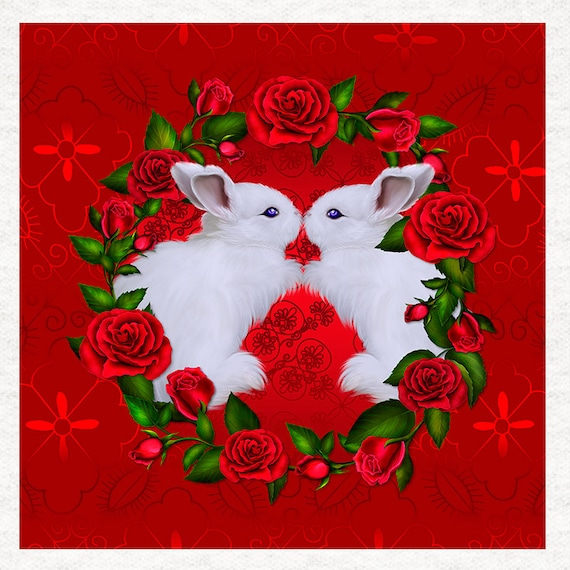 Valentine Love Wording Fabric Upholstery Craft Panel Love and Romance