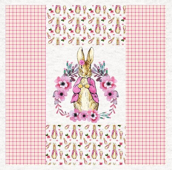 Upholstery Craft Panel Peter Rabbit Story Book Peter RabbitFabric Cushion