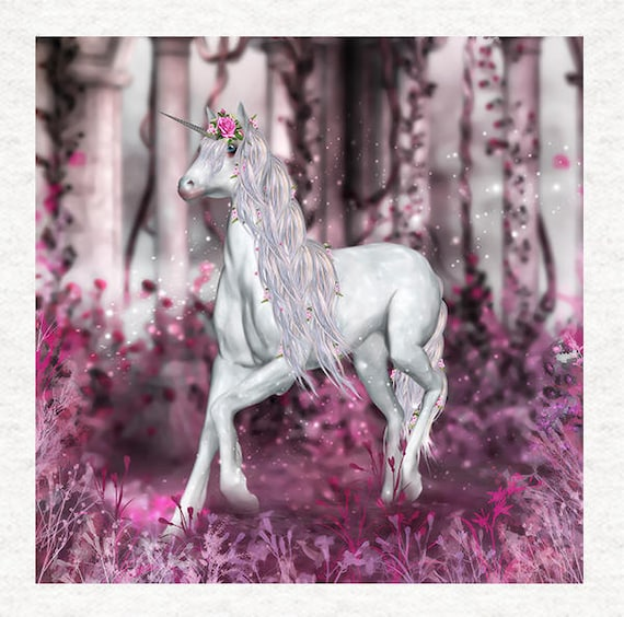 Unicorn The Swansong Unicorn Fantasy Fabric Craft Panels in 100/% Cotton or Polyester
