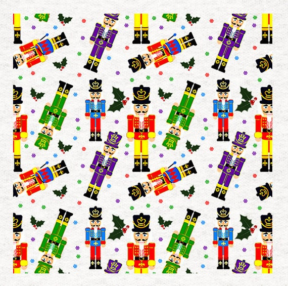 Christmas-Nutcracker Soldier Fabric Craft Panels in 100/% Cotton or Polyester
