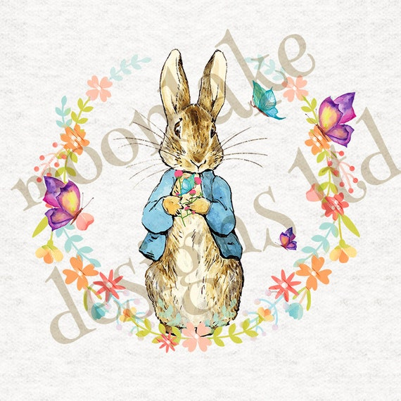 Flopsy holiday wreath Upholstery Craft Quilting sewing Winter Peter Rabbit