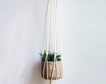 "Minimalist Macrame Plant Hanger 40"" (100cm) long"