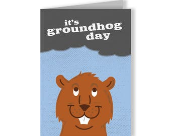 Groundhog Day Holiday Card