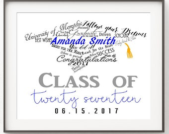 Personalized Graduation Gift, Class of 2018, College Graduation Gift, High School Graduation Gift, Graduation Gift for Her, Gift for Him