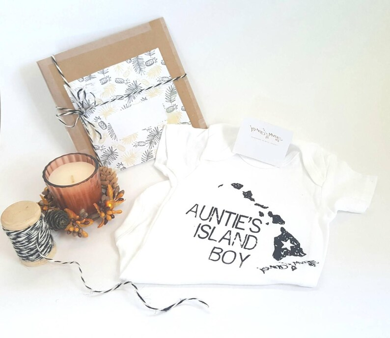 4e9ad2c88552 Aunties island boy one piece t shirt nephew baby shower gift | Etsy