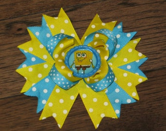 Sponge bob boutique hair bow