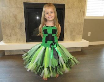 Mine Craft Tutu Dress