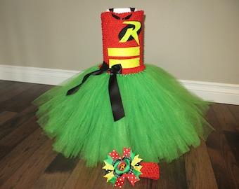 Robin tutu dress, Batman and Robin