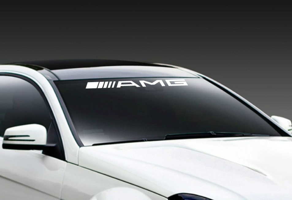 sticker autocollant de pare brise racing de amg mercedes. Black Bedroom Furniture Sets. Home Design Ideas