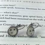 Harry Potter Stars Lever Back Earrings / 3 Tiny Black Stars Lever Back Earrings / Stainless Steel