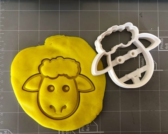Sheep Face Cookie Cutter - Animal Cookie Cutter- Fast Shipping - Sharp Edges - Exceptional Quality
