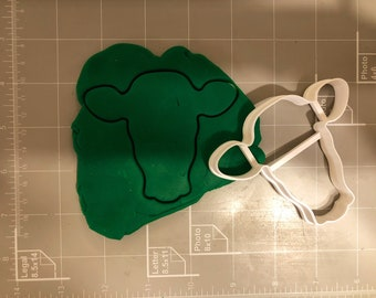 Cow Head Cookie Cutter- Fast Shipping - Sharp Edges - Exceptional Quality