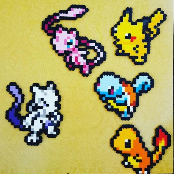 Pokemon Free Shipping Sprite Pixel Art 8 Bit Art Nerd Wall Art Video Game Art 80s Video Games