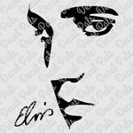 Elvis with Signature | #DP181 | cut design | FCM, SVG, PNG file formats | ***Not a physical item***