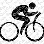 Person Cycling Icon | #DP99-0089 | Triathlon cut design | FCM, SVG file formats | ***Not a physical item***