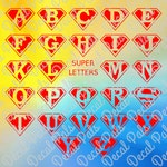 Superman Alphabet | #DP179 | cut design | FCM, SVG, PNG file formats | ***Not a physical item***