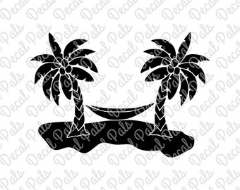 Trees and Hammock | #DP99-0029 | cut design | FCM, SVG, PNG file formats | ***Not a physical item***