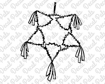 Pinata | #DP99-0140 | Mexican cut design | FCM, SVG file formats | ***Not a physical item***