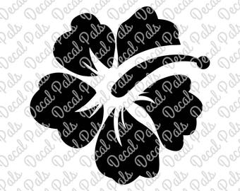 Simple Hibiscus | #DP99-0100 | beach cut design | FCM, SVG file formats | ***Not a physical item***