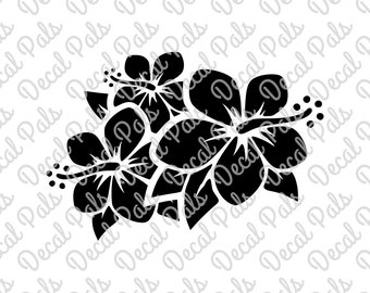 Hibiscus Trio | #DP99-0092 | Beach cut design | FCM, SVG file formats | ***Not a physical item***