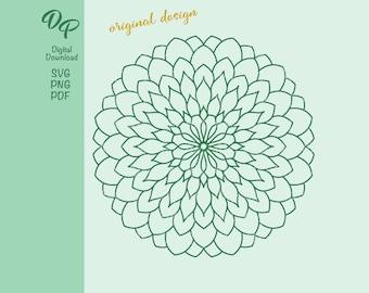Mandala   DP348   SVG   PNG   Digital Download   Coloring Book Page  