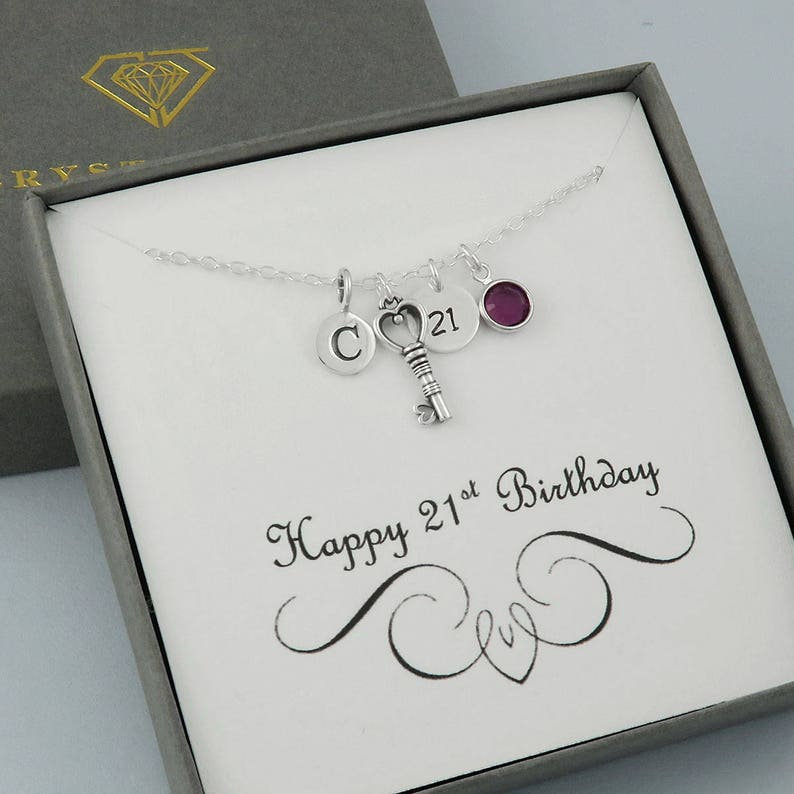 21st Birthday Necklace Personalised Unique Gift