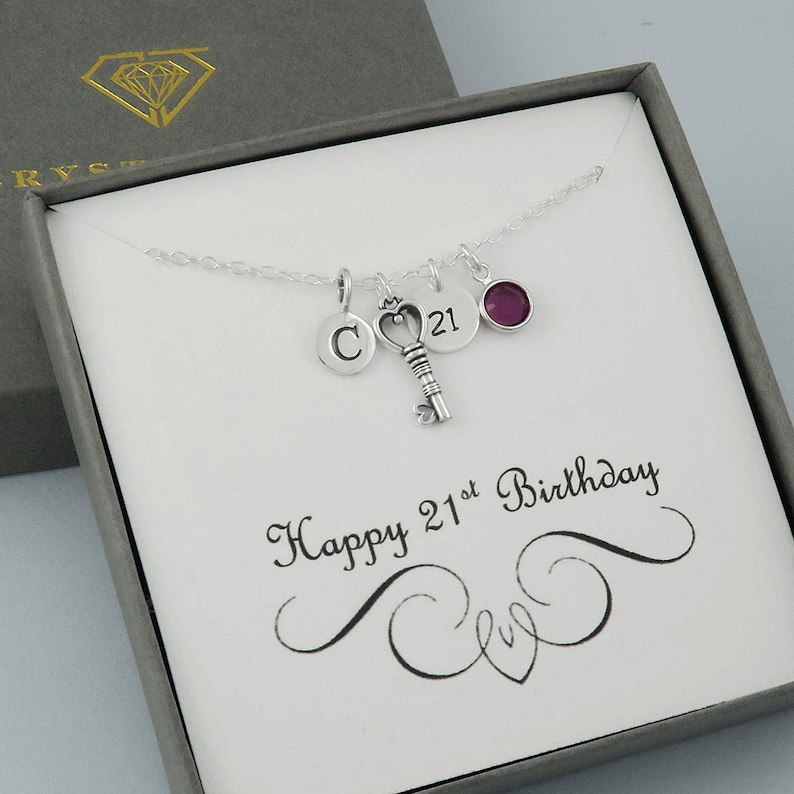 21st Birthday Necklace Personalized Unique Gift