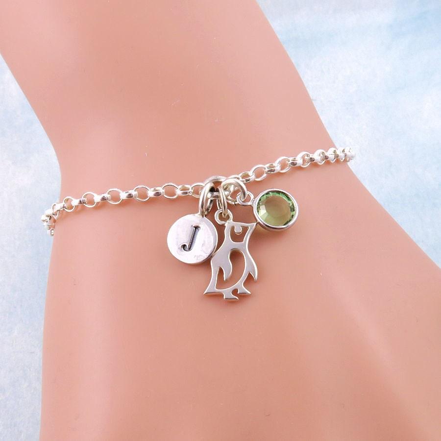 Silver Penguin Bracelet Penguin Jewelry Animal Bracelets   Etsy