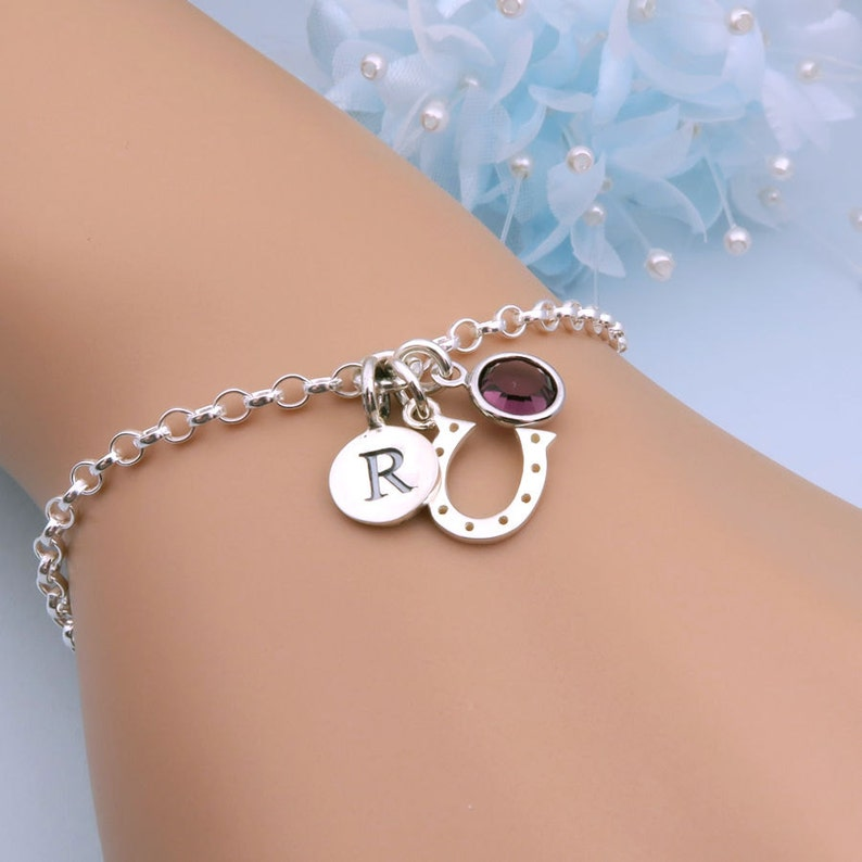 c3e78559c Horseshoe Bracelet Silver Equestrian Jewellery Horse Lover | Etsy