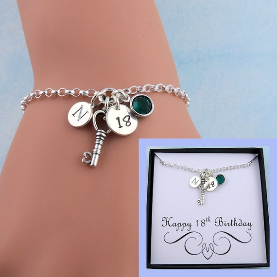 18th Birthday Bracelet With Message Card 18th Birthday Gift Etsy