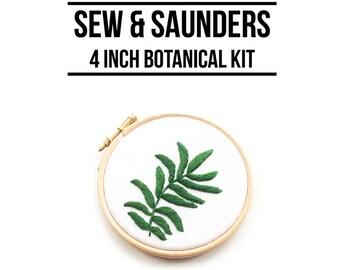 Green Areca 4 Inch Hoop Art Kit