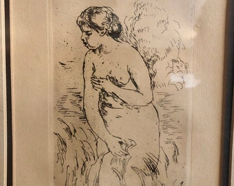 "Pierre-Auguste Renoir - ""Baigneuse Debout, a mi-jambes"" posthumous etching"