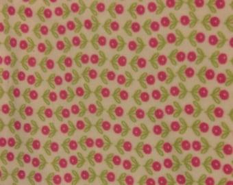 Pink Flowers Fleece Dog Blanket
