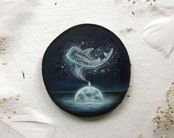 Whale Shark Spirit Weaver | Original Painting on wood