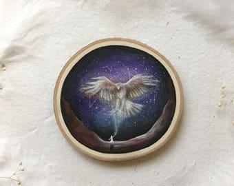 Red Tailed Hawk Spirit Weaver | Original Painting on wood