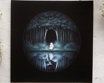 Black Woods Water | 6x6 Fine Art Print