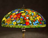 Fruit Lamp, Stained Glass Lamp, Fruit Arrangement, Home Decor, Home Design, Tiffany Lamp, Stained Glass Art, Tiffany Replica Lamp