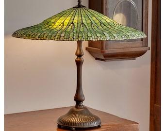 Lotus lamp etsy lotus lamp tiffany lamp stained glass lamp tiffany lamp shade lamp green glass stained glass light stained glass table lamp desk lamp aloadofball Choice Image