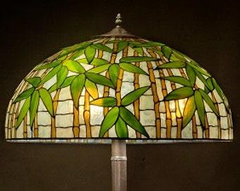 Bamboo Lamp Shade, Asian Lamp, Bamboo Light, Asian Decor, Asian Antiques, Asian Art, Asian Shade, Bamboo Lamp, Bamboo Art, Stained Glass