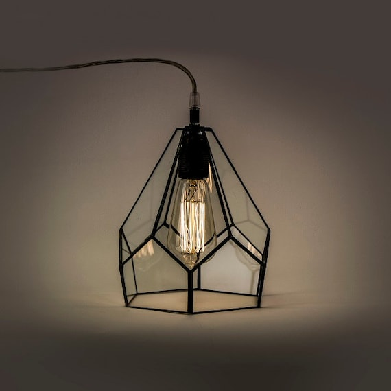 Industrial Decor Industrial Lamp Lamp Hanging Terrarium Etsy