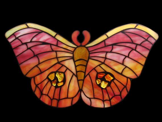 Papillon perles de verre décoration de jardin ornement plaqué argent