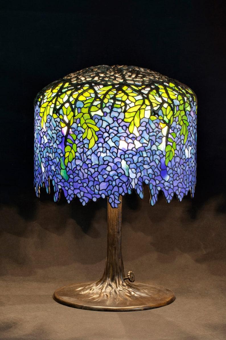 Tiffany Table Lamp Tiffany Lamp Tiffany Wisteria Table Etsy