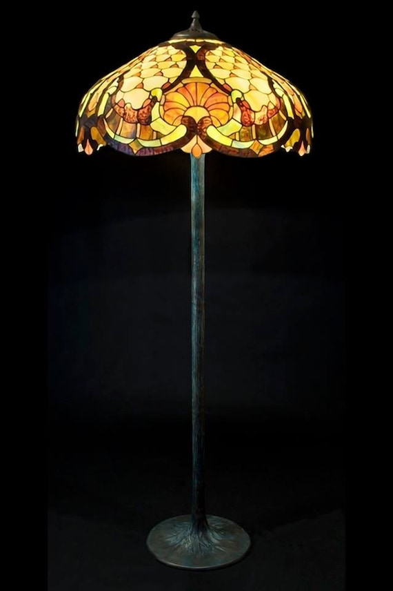 Standing Lamp Floor Lamp Stained Glass Lamp Floor Lamp | Etsy