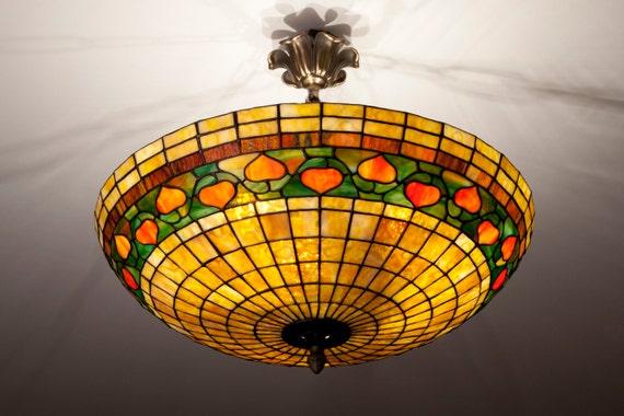 Stained Glass Ceiling Lamp Ceiling Light Pendant Light Etsy